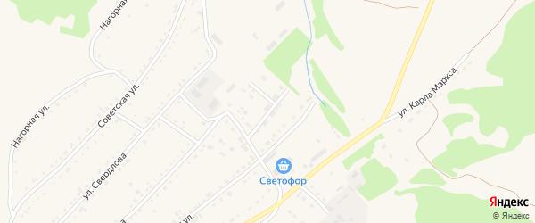 Улица Митина на карте Змеиногорска с номерами домов