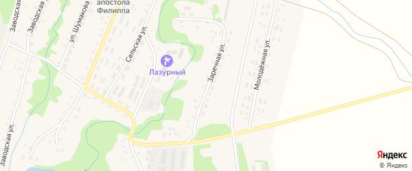 Заречная улица на карте села Барановки с номерами домов