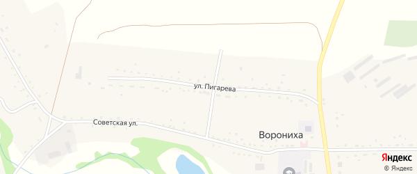 Улица Пигарева на карте села Воронихи с номерами домов