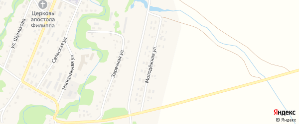 Молодежная улица на карте села Барановки с номерами домов