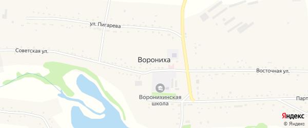 Песчаная улица на карте села Воронихи с номерами домов