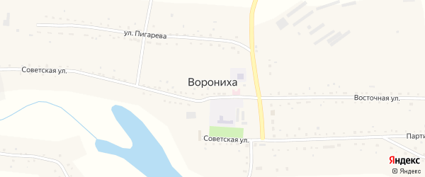 Заречная улица на карте села Воронихи с номерами домов
