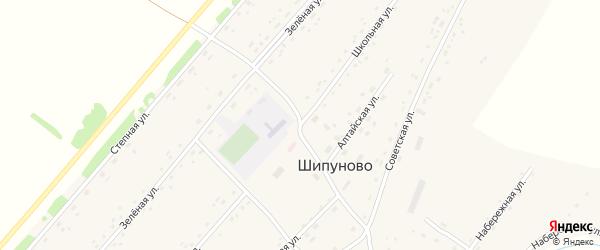 Школьная улица на карте села Шипуново(Российского с/с) с номерами домов