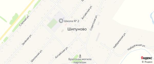 Гвардейский проезд на карте села Шипуново с номерами домов