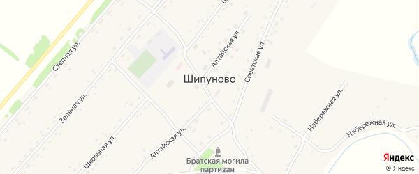 Осенняя улица на карте села Шипуново с номерами домов