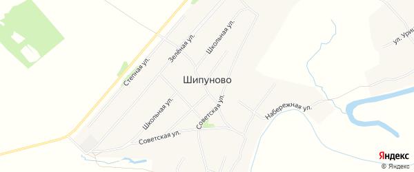 Карта села Шипуново в Алтайском крае с улицами и номерами домов