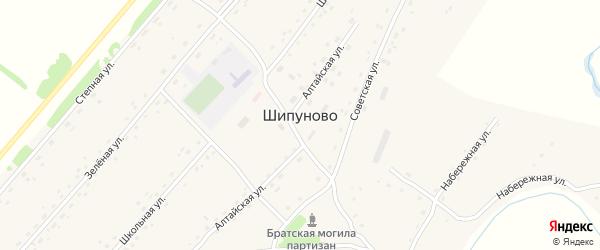 Международная улица на карте села Шипуново с номерами домов