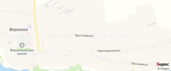 Восточная улица на карте села Воронихи с номерами домов