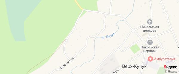 Заречная улица на карте села Верха-Кучука с номерами домов