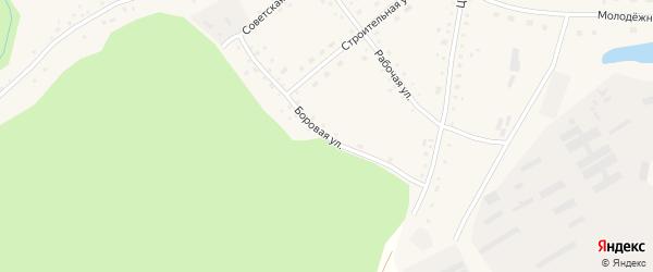 Боровая улица на карте села Верха-Кучука с номерами домов