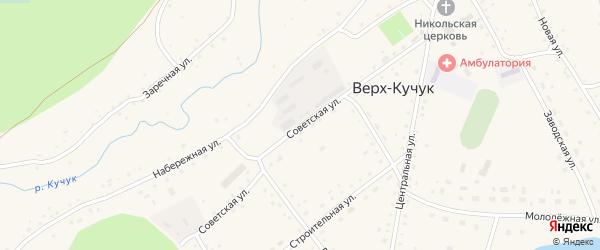 Советская улица на карте села Верха-Кучука с номерами домов