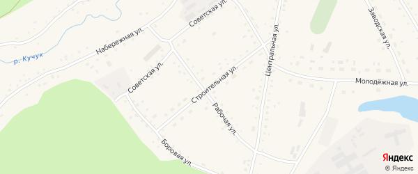 Строительная улица на карте села Верха-Кучука с номерами домов
