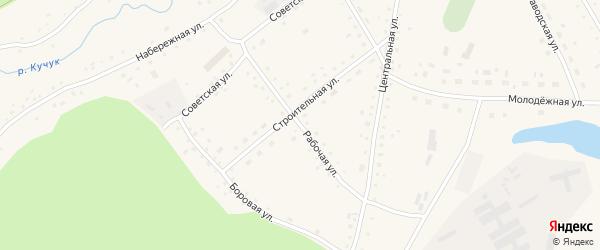 Рабочая улица на карте села Верха-Кучука с номерами домов