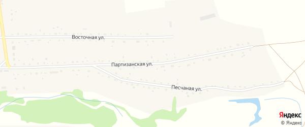 Партизанская улица на карте села Воронихи с номерами домов