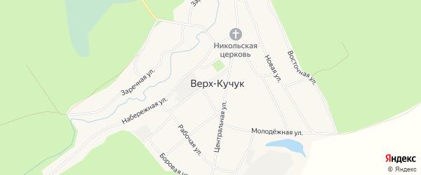 Карта села Верха-Кучука в Алтайском крае с улицами и номерами домов