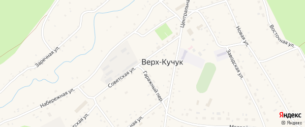 Гаражный переулок на карте села Верха-Кучука с номерами домов