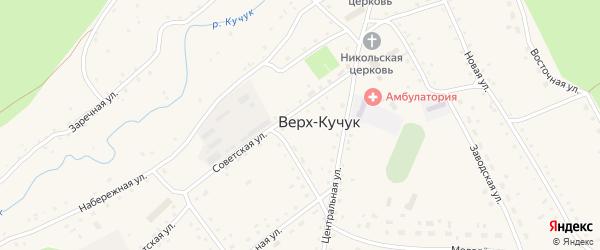 Набережная улица на карте села Верха-Кучука с номерами домов
