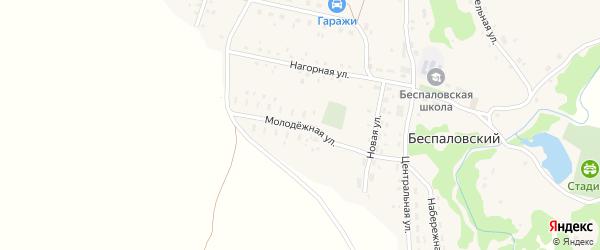 Молодежная улица на карте Беспаловского поселка с номерами домов