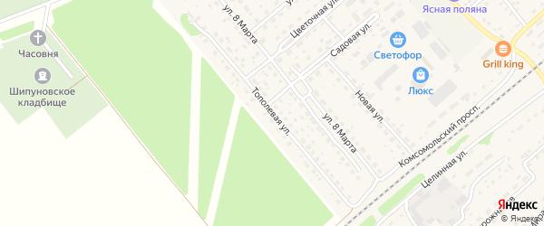 Тополевая улица на карте села Шипуново с номерами домов
