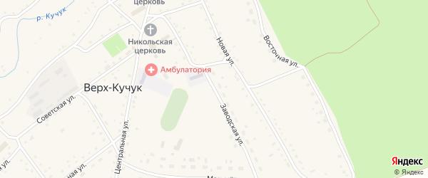 Заводская улица на карте села Верха-Кучука с номерами домов