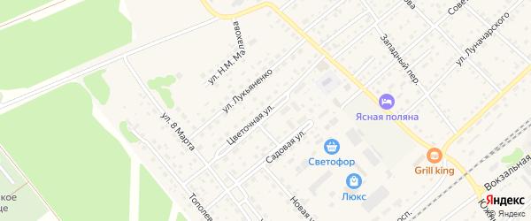 Цветочная улица на карте села Шипуново с номерами домов