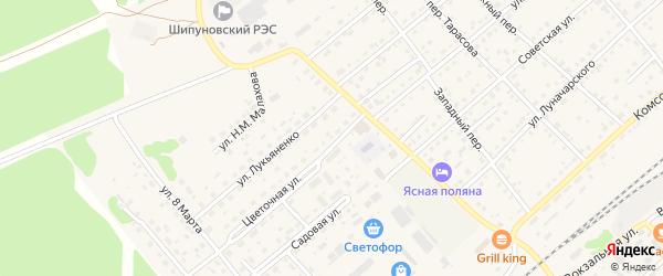 Цветочная улица на карте садового некоммерческого товарищества N 7 с номерами домов