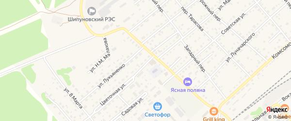 Цветочная улица на карте садового некоммерческого товарищества N 3 с номерами домов
