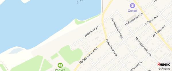 Заречная улица на карте села Шипуново с номерами домов