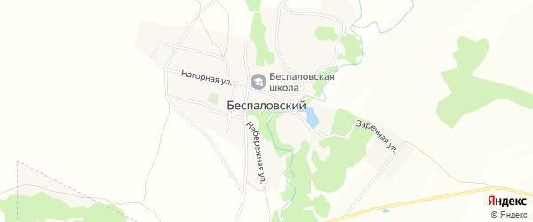 Карта Беспаловского поселка в Алтайском крае с улицами и номерами домов