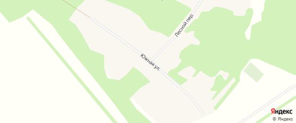 Лесной переулок на карте поселка Березовки с номерами домов