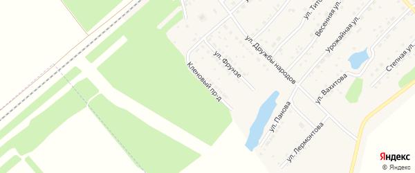 Кленовый проезд на карте села Шипуново с номерами домов
