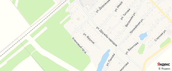 Улица Фрунзе на карте села Шипуново с номерами домов