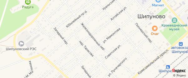 Железнодорожный переулок на карте села Шипуново с номерами домов