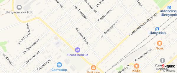 Спортивный проезд на карте села Шипуново с номерами домов