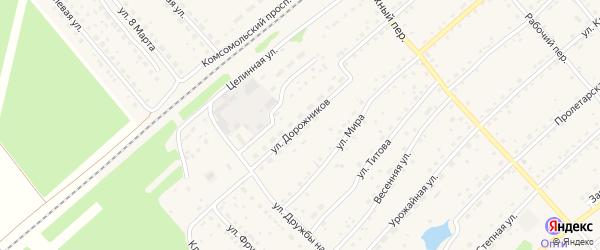 Улица Дорожников на карте села Шипуново с номерами домов