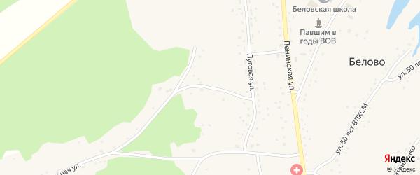 Переулок Красный Крест на карте села Белово с номерами домов