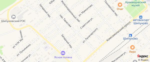 Переулок Тарасова на карте села Шипуново с номерами домов
