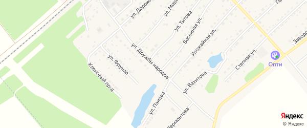 Улица Дружбы Народов на карте села Шипуново с номерами домов