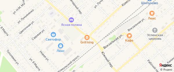 Южный переулок на карте села Шипуново с номерами домов