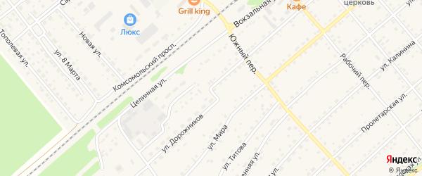 Улица Гагарина на карте села Шипуново с номерами домов