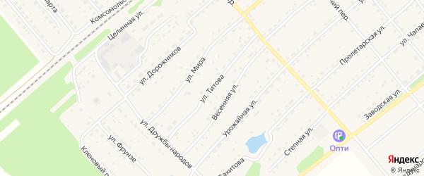 Улица Титова на карте села Шипуново с номерами домов