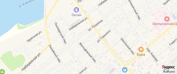 Проезд Белоусова на карте села Шипуново с номерами домов