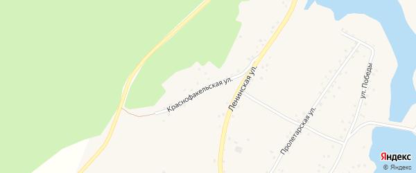 Краснофакельская улица на карте села Белово с номерами домов