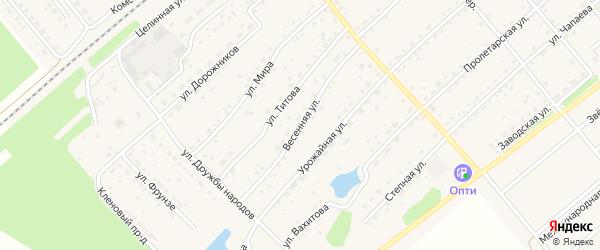 Весенняя улица на карте села Шипуново с номерами домов