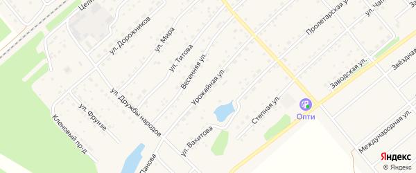 Урожайная улица на карте села Шипуново с номерами домов