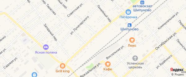 Комсомольский проспект на карте села Шипуново с номерами домов