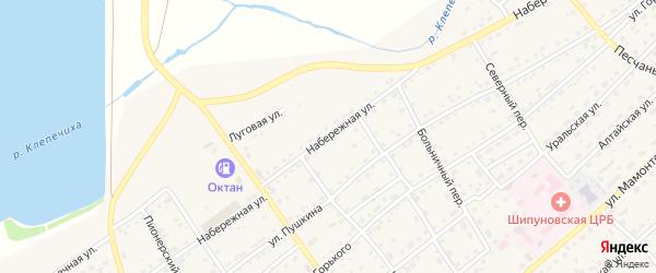Набережная улица на карте села Шипуново(Российского с/с) с номерами домов