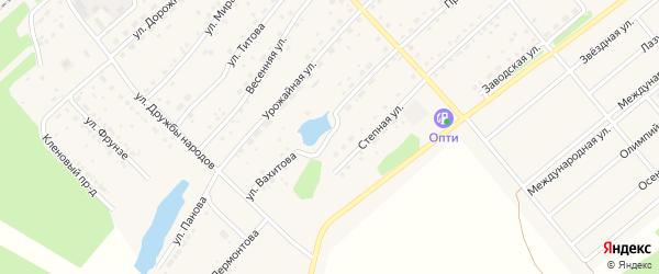 Улица Вахитова на карте села Шипуново с номерами домов