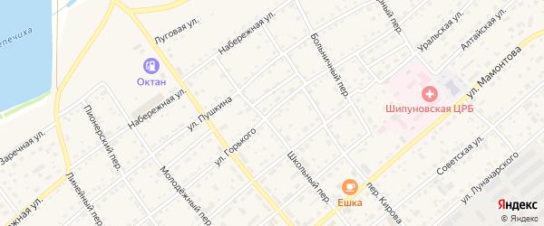 Улица М.Горького на карте села Шипуново с номерами домов
