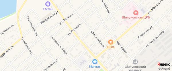 Уральская улица на карте села Шипуново с номерами домов